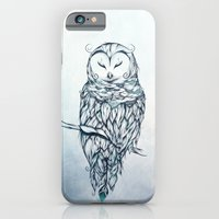 iPhone & iPod Case featuring Snow Owl  by LouJah