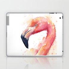 Flamingo Watercolor Pink Bird Laptop & iPad Skin