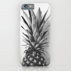 Black and white pineapple iPhone 6 Slim Case