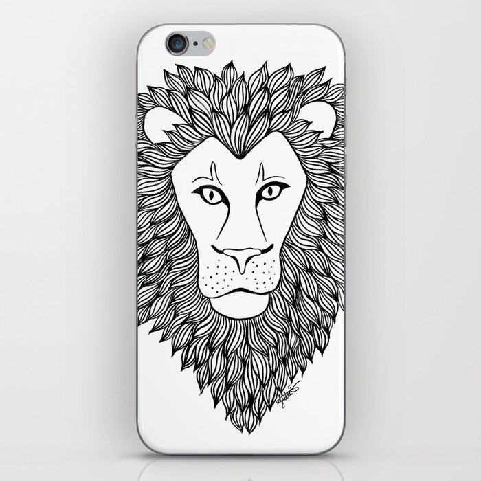 lions head iphone case skin