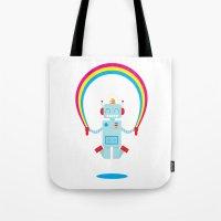 Skipping a Rainbow Tote Bag