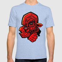 Dragonseed Mens Fitted Tee Tri-Blue SMALL