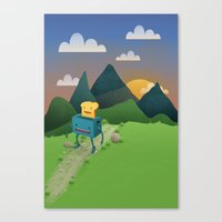 Over The Hills Canvas Print