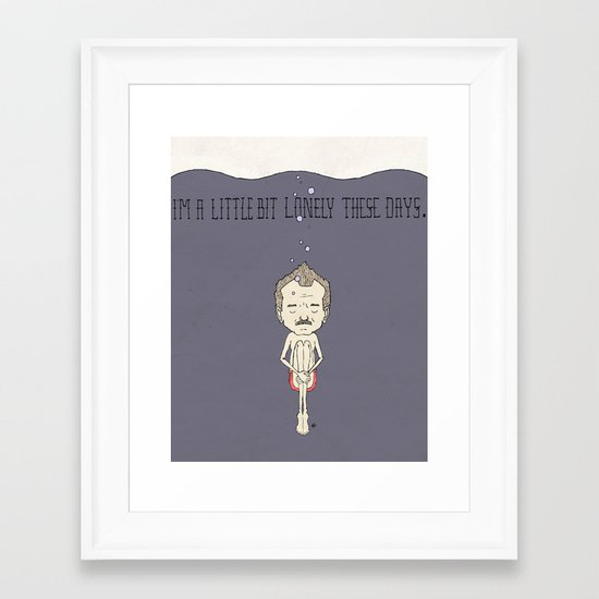 """""""I'm A Little Bit Lonely These Days."""" - Blume Framed Art Print"""