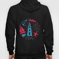 Sea Nautical Pattern Hoody