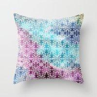 Motif Pattern_rainbow Throw Pillow