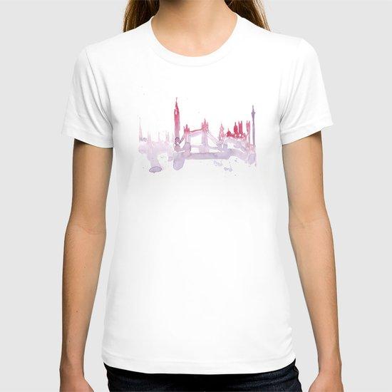 Watercolor landscape illustration_London T-shirt