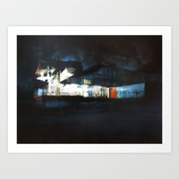 The Ice Docks Art Print