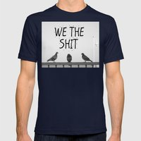 We the Shit Mens Fitted Tee Navy SMALL