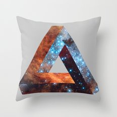 Impossible galaxy triangle Throw Pillow
