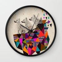 The Night Playground by Peter Striffolino and Kris Tate Wall Clock