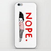 Nope iPhone & iPod Skin