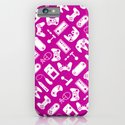 Control Your Game - White on Fuschia iPhone & iPod Case