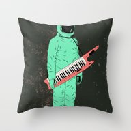 Throw Pillow featuring Space Jam by Chase Kunz