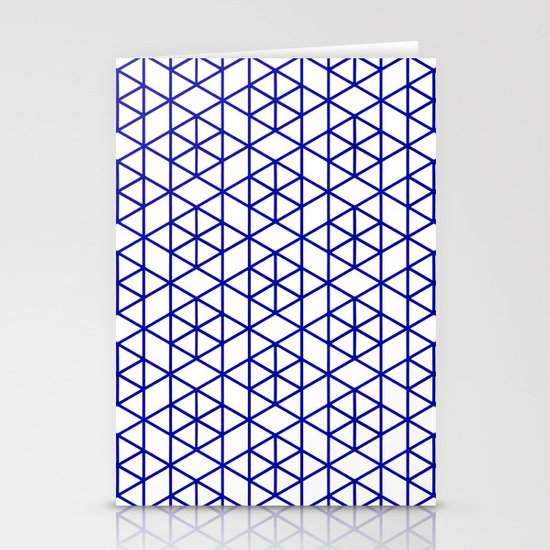 Karthuizer Blue & White Pattern Stationery Card