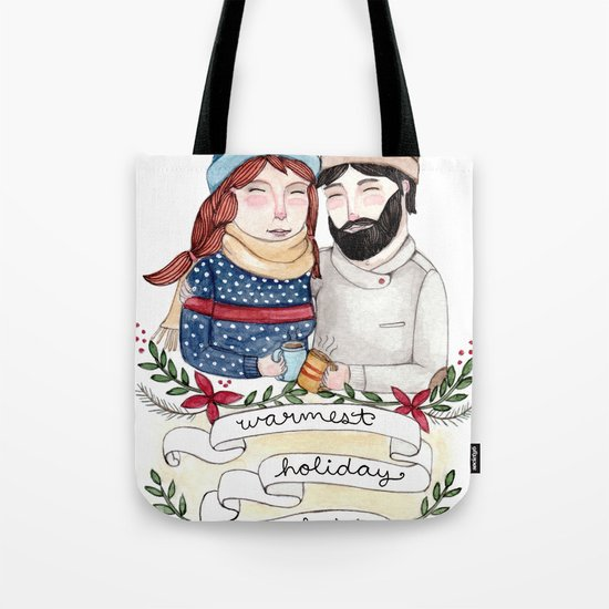 Warmest Holiday Wishes Tote Bag