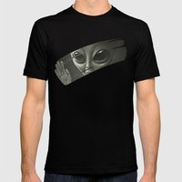 Alien Mens Fitted Tee Black SMALL