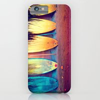 iPhone Cases featuring surf by Laura Ferro