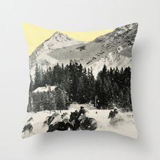 Winter Races Throw Pillow