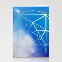 Gulls in Hexagram Flight Stationery Cards