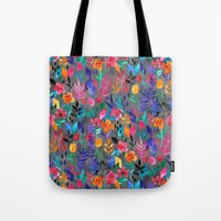 Popping Color Painted Fl… Tote Bag