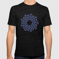 Wriggle Mens Fitted Tee Tri-Black SMALL