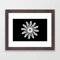 White lace Framed Art Print