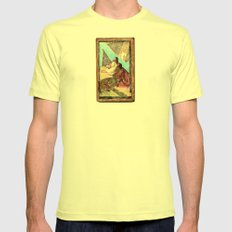 double jesus Mens Fitted Tee Lemon SMALL