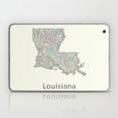 Louisiana map Laptop & iPad Skin