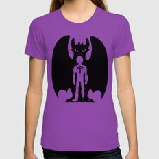 Heart of a Chief Soul of a Dragon Womens Fitted Tee Ultraviolet SMALL