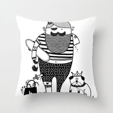 Hilary goes out Throw Pillow