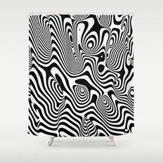 Trippy Background Shower Curtain