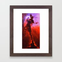 Red Nebula Framed Art Print