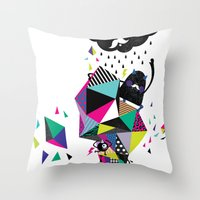 Creepy World Throw Pillow