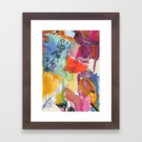 Abstract Floral Watercol… Framed Art Print