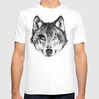 The Wolf Next Door Mens Fitted Tee White SMALL