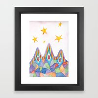 Canyon Under Stars Framed Art Print