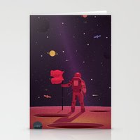 SPACEMAN WENT TRAVELLING Stationery Cards