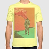 6 Tabs Mens Fitted Tee Lemon SMALL