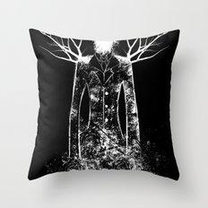 The Slenderman Throw Pillow