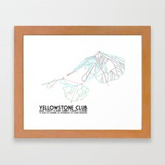 Yellowstone Club, MT - Minimalist Trail Art Framed Art Print