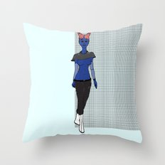 Galactic Street Queen; Martian Babe Throw Pillow