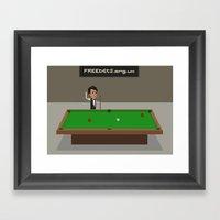 Snooker Framed Art Print