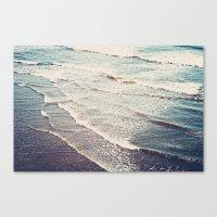 Ocean Waves Retro Canvas Print