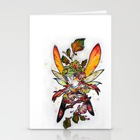 Chrysantheme Fairy Stationery Cards