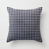 Monochrome Aura - Textur… Throw Pillow