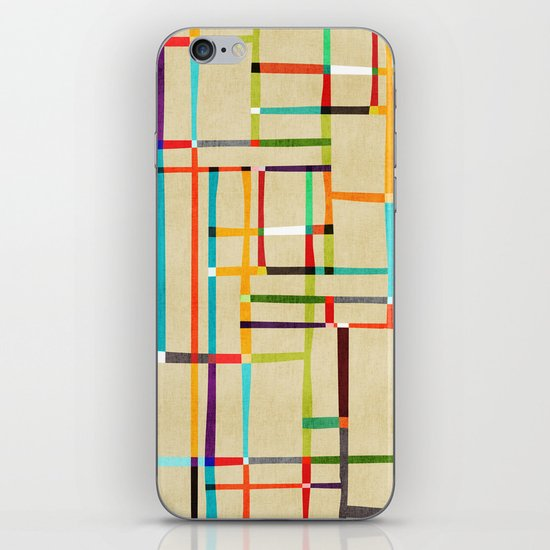 The map (after Mondrian) iPhone & iPod Skin