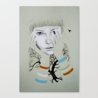She, Tree Canvas Print
