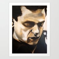 Young Johnny Cash Art Print