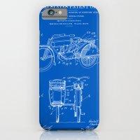 Motorcycle Sidecar Patent 1912 - Blueprint iPhone 6 Slim Case
